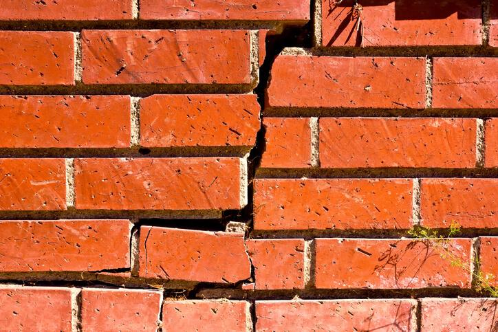 Wall shrinkage foundation cracks